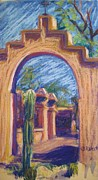 Landscape Greeting Cards Pastels Framed Prints - What Lies Beyond Framed Print by Katrina West