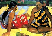 News Digital Art - What News by Eugene Henri Paul Gauguin