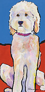 Pat Saunders-white Dog Paintings - What No Diamonds by Pat Saunders-White