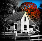 Farmhouses Photos - WHAT the HEART REMEMBERS by Karen Wiles