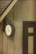 Wooden Building Posters - What Time Is It Poster by Margie Hurwich