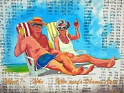 Stock Market Painting Posters - What Who  Who Needs Obama Care Poster by John Malone Halifax Artist