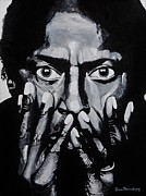 Miles Davis Painting Originals - What Would Miles Say by Brian Broadway