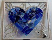 Religious Glass Art Originals - What Your Heart Reflects by Daryl Lee