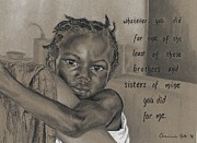 Haiti Drawings - Whatever You Did by Charissa Nolt