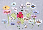 Silver Embroidery Prints - Whats in a flower Print by Stephanie Callsen