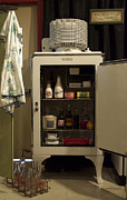 Kitchen Photos Prints - Whats In Your 1940ish IceBox Print by Thomas Woolworth