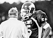Football Coach Photos - Whats the Play Coach by DM Werner