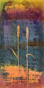 Dyes Tapestries - Textiles Posters - Wheat Couple Poster by Carolyn Doe