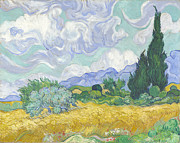 Arles Tapestries Textiles - Wheat Field with Cypresses by Nomad Art And  Design