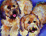 Robert Phelps Robert Phelps Art Framed Prints - Wheaten Terriers Framed Print by Robert Phelps