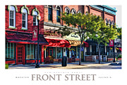 Wheaton Front Street Store Fronts Poster Print by Christopher Arndt