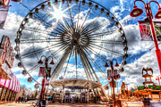 Amusements Framed Prints - Wheel-4V3 Framed Print by Allan Hillman