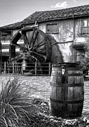 Wine Barrel Photos - Wheel and Barrel by Chrystyne Novack