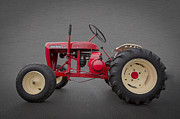 Red Tractors Posters - Wheel Horse Poster by Debra and Dave Vanderlaan