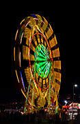 Nc Framed Prints - Wheel in the Sky at the Mountain State Fair Framed Print by John Haldane