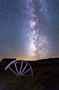 Ghost Town Metal Prints - Wheel in the Sky Metal Print by Cat Connor