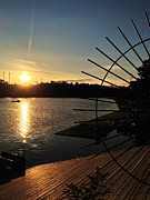 Boathouse Row Photos - Wheel of the Sun by Photographic Arts And Design Studio
