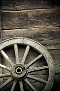 No Spokes Posters - Wheel of wagon Poster by Lars Hallstrom