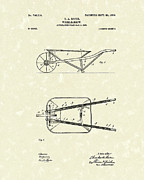 Baker Drawings Prints - Wheelbarrow 1903 Patent Art Print by Prior Art Design