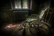 Creepy Digital Art Metal Prints - Wheelchair view Metal Print by Nathan Wright