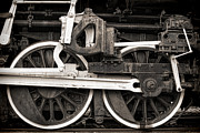 Steam Metal Prints - Wheels and Rods Metal Print by Olivier Le Queinec