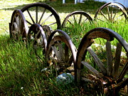 Wagon Wheels Photos - Wheels Are Us by Jeff Gater