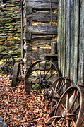 Wagon Wheel Photos - Wheels of Time by Benanne Stiens