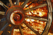 Spoked Wheel Prints - Wheels of TIme Print by Rowana Ray