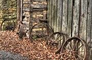Wagon Wheels Photo Posters - Wheels of Time Two Poster by Benanne Stiens
