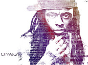 Lil Wayne Digital Art Originals - Wheezy by Andrew Kaupe