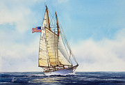 Maritime Greeting Card Painting Originals - When and If by James Williamson