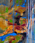 Drips Paintings - When Blessings Flow by Ruth Palmer