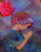 Child Praying Paintings - When Emmy Prays by Deborah  Montana