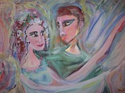 Ballet Dancers Paintings - When I am with you by Judith Desrosiers