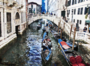 Gondolier Prints - When I Last Saw Venice Print by Madeline Ellis