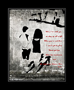Two By Two Digital Art Posters - When Im with You Poster by Barbara Griffin