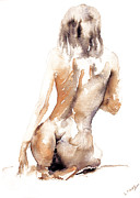 Silver Nude Paintings - When by John Silver