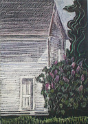 Maine Drawings Originals - When Lilacs Last... by Grace Keown