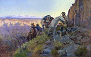 Old West Prints - When Shadows Hint Death Print by Pg Reproductions