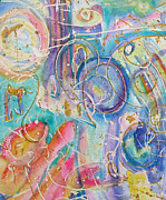 Visionary Art Painting Prints - When Sound Became Music Print by  Tolere