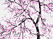 Tree Blossoms Paintings - When Spring Comes by Kume Bryant
