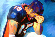 Athlete Mixed Media Prints - When Tebow was a Bronco Print by GCannon