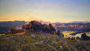 Western Art Digital Art Posters - When The Land Belonged To God Poster by Charles Russell