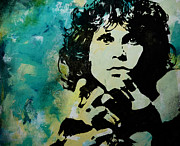Jim Morrison Prints - When the Musics over Print by Bitten Kari