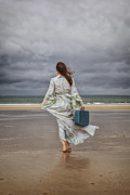 Luggage Metal Prints - When The Wind Blows Away My Dreams Metal Print by Joana Kruse