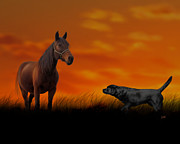 Labrador Digital Art - When we met by Photoart BySaMi
