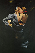 Ballroom Dance Paintings - When We Tango by Sheri  Chakamian