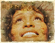 Actress Mixed Media Metal Prints - When You Believe Metal Print by Mo T