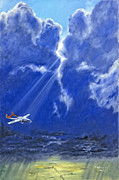 Storm Clouds Paintings - Where Angels Sing by Bob Wilson